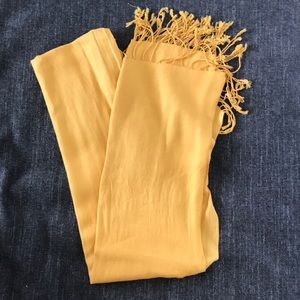 Golden yellow scarf!